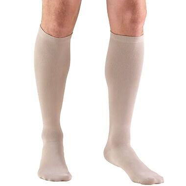 Truform Men's Socks, Knee High, Dress Style: 8-15 mmHg, XL, TAN (1942TN-XL)