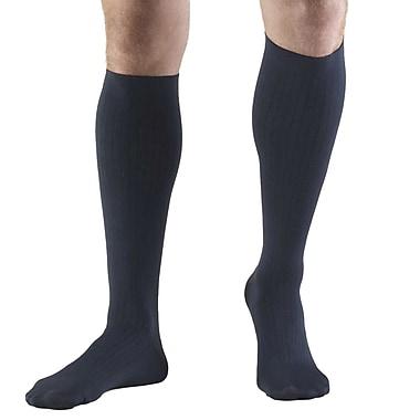Truform Men's Socks, Knee High, Dress Style: 8-15 mmHg, XL, NAVY (1942NV-XL)