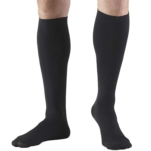 Truform Men's Socks, Knee High, Dress Style: 8-15 mmHg, XL, BLACK (1942BL-XL)