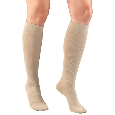 Truform Women's Trouser Socks, Dress Style, Rib Pattern: 15-20 mmHg, S, TAN (1973TN-S) 2617148