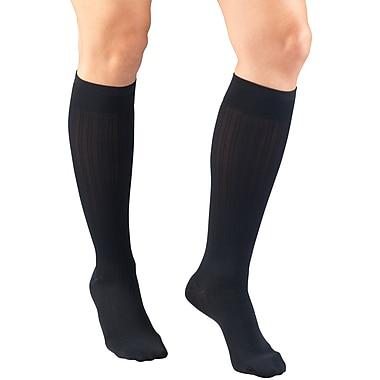 Truform Women's Trouser Socks, Dress Style, Rib Pattern: 15-20 mmHg, L, NAVY (1973NV-L)