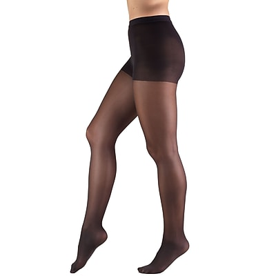 Truform Sheer Pantyhose: 8-15 mmHg, T, BLACK (1765BL-T)