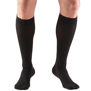 Truform Stockings, Knee High, Closed Toe: 30-40 mmHg, M, BLACK (8845BL-M)