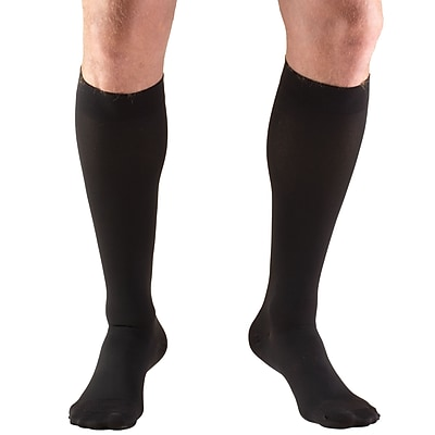 Truform Stockings, Knee High, Closed Toe: 30-40 mmHg, XL, BLACK (8845BL-XL)