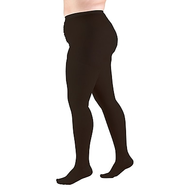Truform Pantyhose, Plus Size Full Figure: 20-30 mmHg, P, BLACK (1758BL-P)