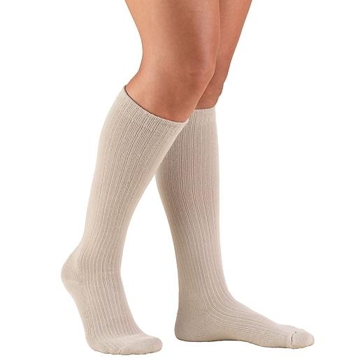Truform Women's Socks, Cushion Foot, Active Casual Style: 15-20 mmHg, L, TAN (1963TN-L)