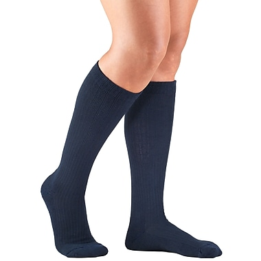 Truform Women's Socks, Cushion Foot, Active Casual Style: 15-20 mmHg, XL, NAVY (1963NV-XL)