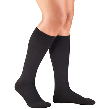 Truform Women's Socks, Cushion Foot, Active Casual Style: 15-20 mmHg, L, BLACK (1963BL-L)