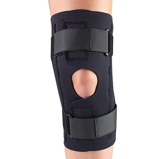 OTC Neoprene Knee Stabilizer Wrap - Spiral Stays, XS (0312BL-XS)