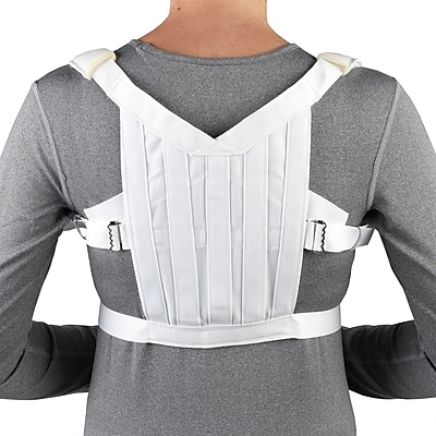 OTC Posture Control Shoulder Brace, White, Medium (2455-M)