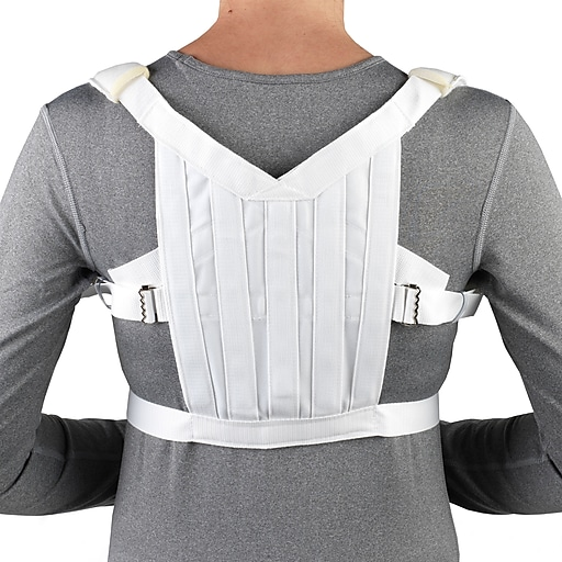 OTC Posture Control Shoulder Brace, White, Large (2455-L)