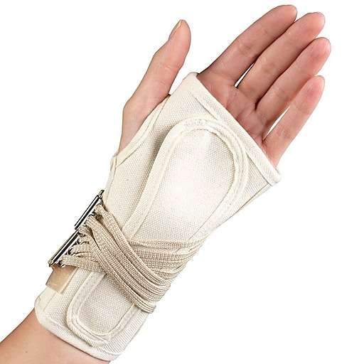 OTC Cock-Up Wrist Splint - Canvas, Right Hand, X-Large  (2362/L-XL)