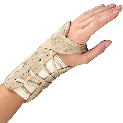 OTC Cock-Up Wrist Splint - Suede Finish, Left Hand, Small (2360/L-S)