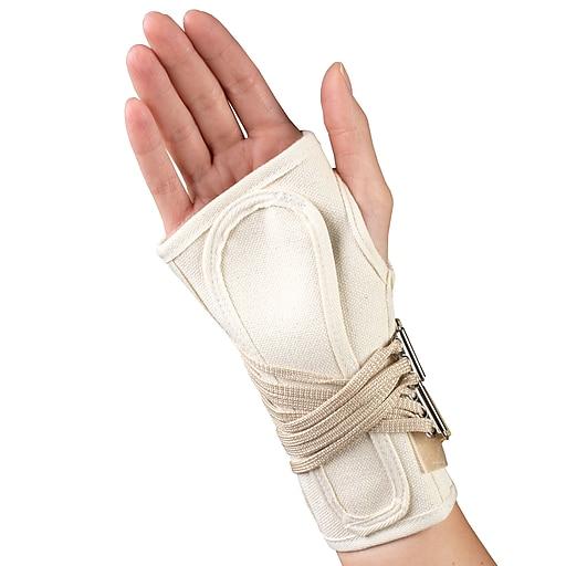 OTC Cock-Up Wrist Splint - Canvas, Right Hand, X-Large  (2362/R-XL)