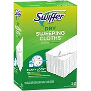 Swiffer Sweeper Dry Sweeping Microfiber Pads, Unscented, 52/PacK (2728764)