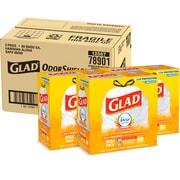 Glad OdorShield 13 Gallon Drawstring Tall Kitchen Trash Bags, Hawaiian Aloha, .72 mil, 23.74 x 25.4, White, 80CT (78605)