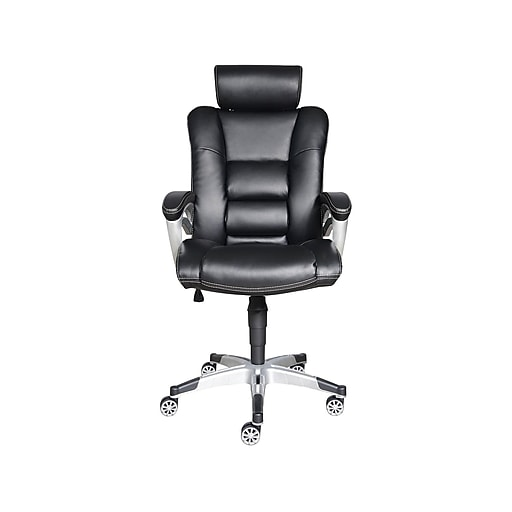 Sealy Posturepedic Droman Bonded Leather Executive Chair, Black (9773G)