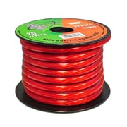Pyramid 93580541M 4 Gauge Clear Red Power Wire 25 ft. OFC