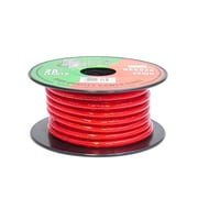 Pyramid 93580543M 8 Gauge Clear Red Power Wire 25 ft. OFC
