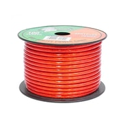 Pyramid 93580539M 10 Gauge Clear Red Power Wire 100 ft. OFC