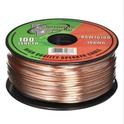 Pyramid 93580548M 16 Gauge 100 ft. Spool of High Quality Speaker Zip Wire