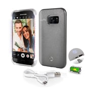 SereneLife SL302S7GR Gray LED Illuminated Phone Case for Samsung Galaxy S7 Edge