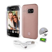 SereneLife SL302S7RG Rose Gold LED Illuminated Phone Case for Samsung Galaxy S7 Edge