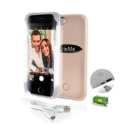 SereneLife SLIP101GD Gold LED Illuminated Phone Case for Iphone 6 and 6S