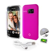 SereneLife SL302S7PN Pink LED Illuminated Phone Case for Samsung Galaxy S7 Edge