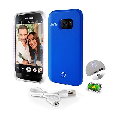 SereneLife SL301S7BL Blue LED Illuminated Phone Case for Samsung Galaxy S7