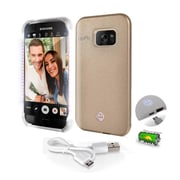 SereneLife SL301S7GD Gold LED Illuminated Phone Case for Samsung Galaxy S7