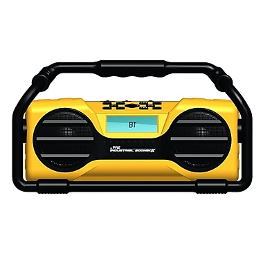 Pyle Industrial BoomBoX Rugged Bluetooth Speaker, Heavy-Duty & Splash-Proof Stereo Radio