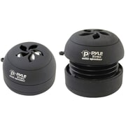 Pyle 93580279M Bass Expanding Rechargeable Mini Speakers Pair for iPod/MP3/Computers (Black)