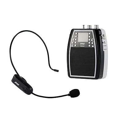 Pyle 93598975M Portable Microphone & Amplifier PA Speaker System
