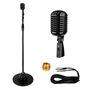 Pyle Pro PDMICR70BK Classic Retro Vintage Style Microphone with Swing Stand