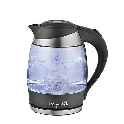 MegaChef 1.8 Lt. Electric Tea Kettle Glass (93598372M)