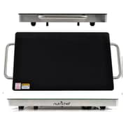 NutriChef 93599453M Electric Warming Tray / Food Warmer with Non-Stick Heat-Resistant Glass Plate