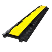 Pyle Pro PCBLCO26 Yellow/Black Cable Protective Cover Ramp For Cables/Wires/Cords