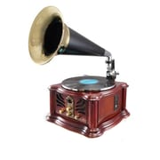 Pyle Home Vintage Retro Classic Style Bluetooth Turntable PUNP33BT Phonograph Speaker System with MP3 Recording Ability