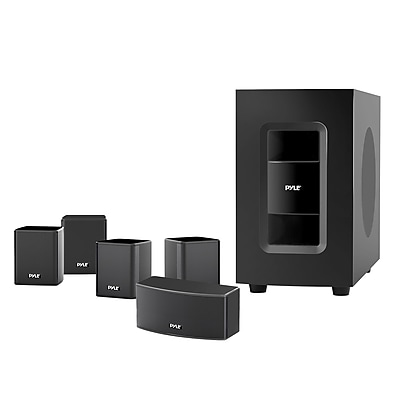 Pyle Home PT584BT 300W 5.1 Channel Home Theater Speaker System, Black