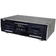 Pyle PT659DU Dual Stereo Cassette Deck w/Tape USB to MP3 Converter, Black