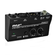 Pyle Home Compact Monitor Headphone Amplifier PHA211 +48V Phantom Power Pass