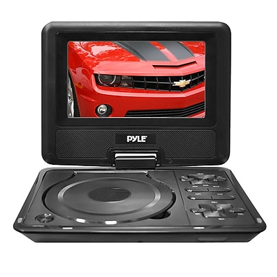 Pyle PDH7 7'' Widescreen High Resolution Portable Monitor w/ Built-In DVD