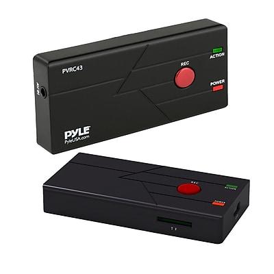Pyle Home PVRC43 External Capture Card Video Recorder - TV & Video Recording System Black