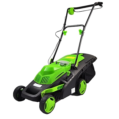 Serene Life Cordless Electric Landscape Mower Green/ Gray (PSLCLM60)