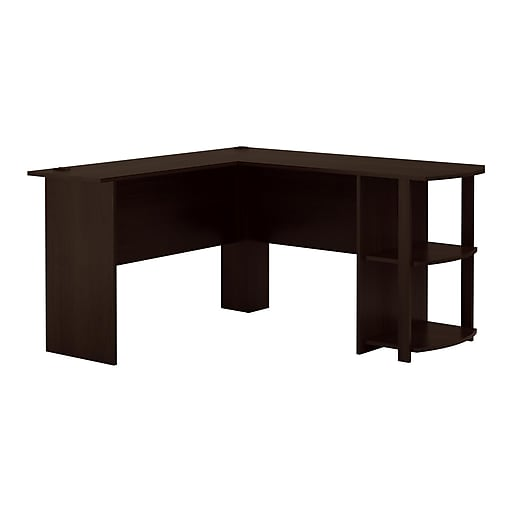 pretty nice 20737 dd369 Ameriwood Home Dakota L-Shaped Desk with Bookshelves, Espresso (9354303PCOM)