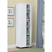 "SystemBuild Kendall 24"" Utility Storage Cabinet, White (7362401PCOM)"