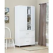 "SystemBuild Kendall 36"" 2 Door/2 Drawer Storage Cabinet, White (7364401PCOM)"