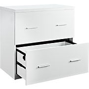 Altra Furniture Princeton 2-Drawer Lateral File Cabinet, White, Letter/Legal (9532196)
