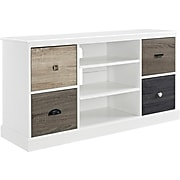 """Ameriwood Home Mercer TV Console with Multicolored Door Fronts for TVs up to 50"""", White (1739096)"""